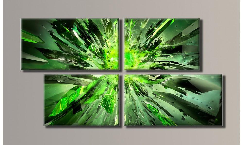 Модульная картина Абстракция взрыв 50х93 см (HAF-028)