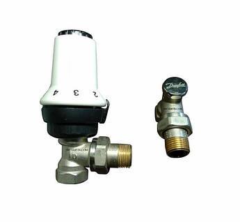 Терморегуляторы для радиаторов 1/2 дюйма danfoss угловые