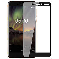 Защитное стекло Full Screen Full Glue 5D Tempered Glass для Nokia 6 2018, Black