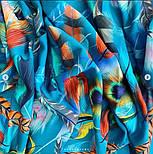 Палантин из вискозы 10811-12, павлопосадский палантин из вискозы, размер 65х200, фото 7