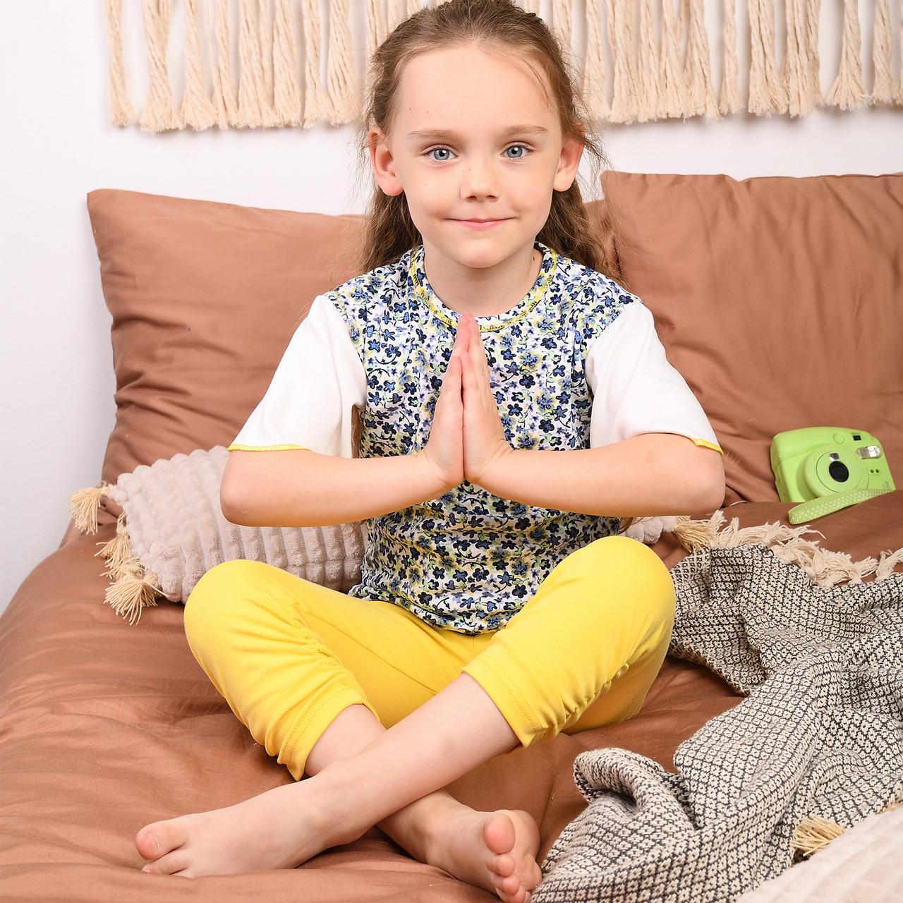 Детская пижама для девочки (Футболка + бриджи) | Дитяча піжама для дівчинки