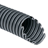Труба гофрированная номинальный диаметр 7 мм, V0, D 6,8/10,1мм (вн/нар), полиамид 6, цвет тёмно-серый, без протяжки (бухта 50 м), DKC, PA600710F0