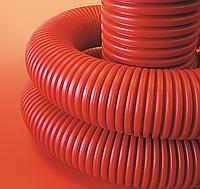 Труба гнучка двостінна 50/41,5 мм, з протяжкою (бухта, 100 м), ДКС