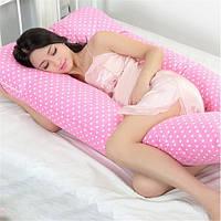 Подушка для беременных и кормления ребенка U-образная с наволочкой