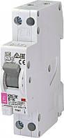 Дифференциальный автоматический выключатель KZS-1M B 20/0,03 тип A (6kA) (нижн. подключ.) 2175205 ETI, фото 1