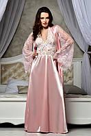 """Шикарный длинный комплект для """"Утро невесты"""" Королевский Розовый"""