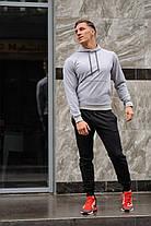 Модный молодёжный спортивный костюм двухцветный  S,M,L,XL , фото 3