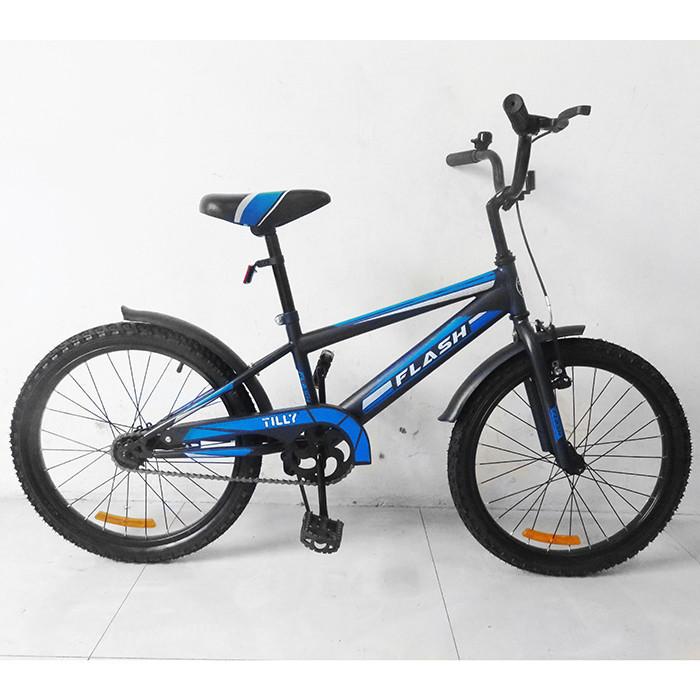 Велосипед двухколёсный детский 20 дюймов TILLY  FLASH T-22044 Blue