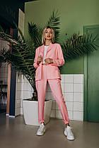 Летний модный костюм (брюки и пиджак, цвет - пудра, ткань - габардин) Размер S, M, L (розница и опт)