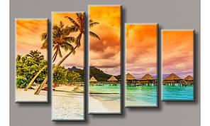 Модульная картина Мальдивские острова 85х132 см (HAB-134)
