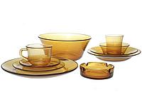 Обеденный набор Amber Lime Lite янтарное стекло 52 предмета PB-PP-52psg, КОД: 171251