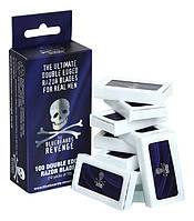 Упаковка лезвий The Bluebeards Revenge Ultimate Double Edje Razor Blades For Real Men 100шт