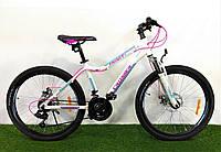 """Горный велосипед Crosser Trinity 26"""" бело-розовый"""