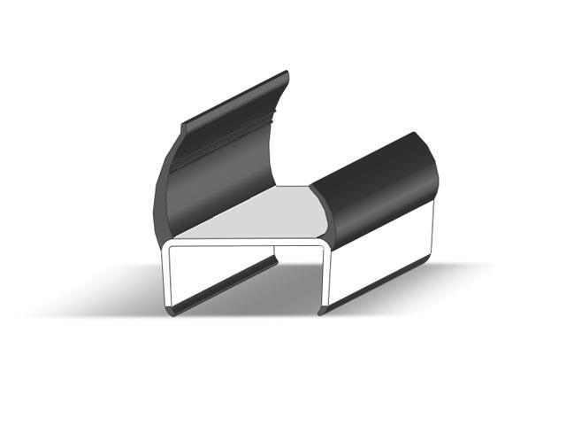 Уплотнитель резино - пластиковый А =41,9мм Takler Италия