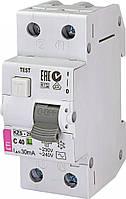 Дифференциальный автоматический выключатель KZS-2M C 25/0,03 тип AC (10kA) 2173126 ETI, фото 1
