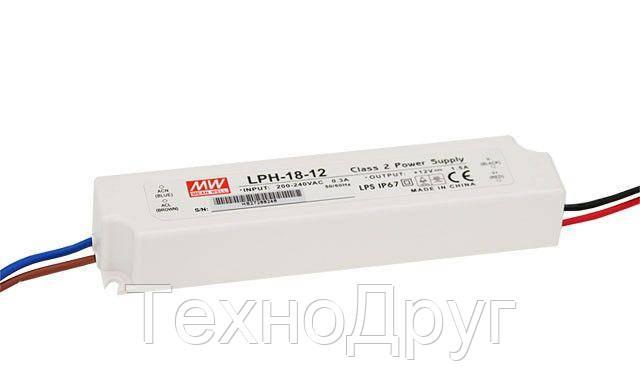 Блок питания импульсный Mean Well 18W 24V (IP67,0,75A) PRO, фото 2