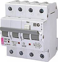 Дифференциальный автоматический выключатель KZS-4M 3p+N C 25/0,03 тип AC (6kA) 2174026 ETI, фото 1