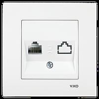 Розетка компьютерная (без гнезда) Karre Viko