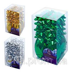 Набор декора для праздничной упаковки 10м*5мм (8бантов, 2 ленты) 8991 (96уп)