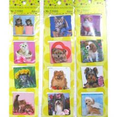 """Закладка магнитная для книг """"Коты, собаки"""" 4 шт, ассорти"""