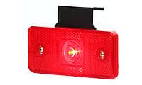 Фонарь габаритный задний универсальный, светодиодный, с кронштейном, красный, 12V-24V