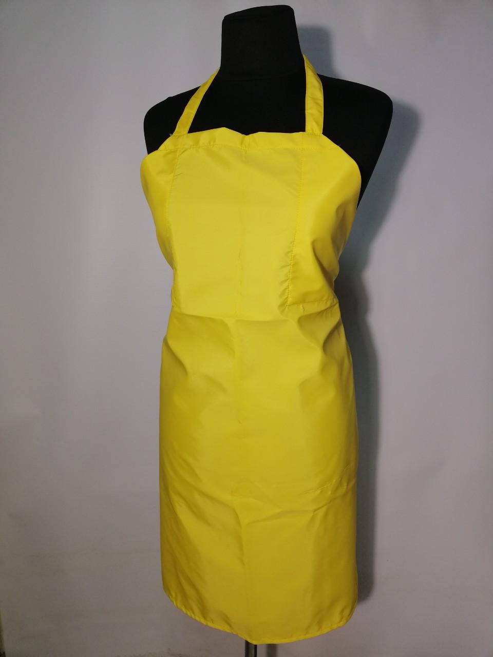 Передник, фартук для мойщиц Atteks прорезиненный, непромокаемый желтый - 00422
