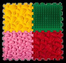 Ортопедический массажный коврик Пазлы Микс 4 элемента