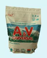 """Бесфосфатный стиральный порошок """"A&V"""" universal (с ароматизатором морская свежесть) 2,5 кг"""