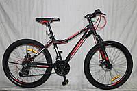 """Горный велосипед Crosser Trinity 26"""" черно-красный"""
