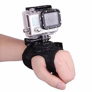Крепление экшн камер на руку, кисть для GoPro, Xiaomi, SJCAM с крепежом на 360° Кріплення для екшн камери.