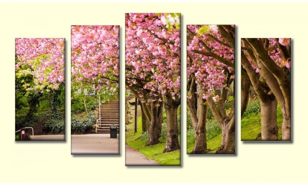 Модульная картина Красивый парк 55х100 см (HAB-149)