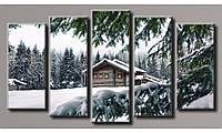 Модульная картина Зимний пейзаж-2 71х128 см (HAB-094)