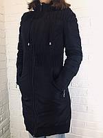 Куртка женская черная удлиненная