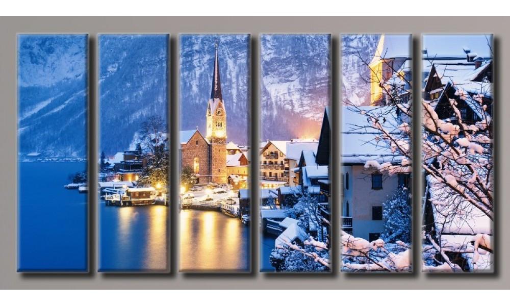 Модульная картина Зимний пейзаж 80х159 см (HAV-010)