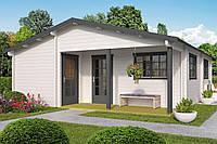 Дом деревянный из профилированного бруса 7х8.2. Скидка на домокомплекты на 2020 год