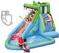 Горка надувная с Бассейном Крокодил водная Happy Hop, фото 1
