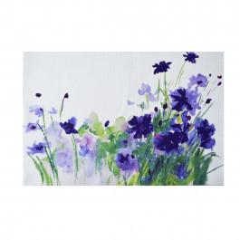 """Коврик сервировочную под столовые приборы """"Пурпурные цветы"""", 30 * 45см, ТМ МД"""