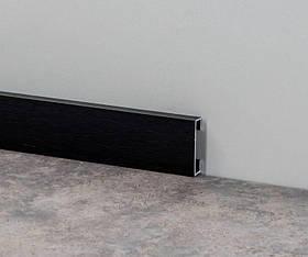 Дизайнерский плинтус для пола алюминий анодированный Profilpas Metal Line I Design, сатинированный Н-60мм, Карбон