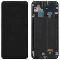 Дисплей (LCD) Samsung GH82-19202A A30 2019 (A305) с сенсором чёрный сервисный