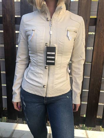 Куртка жіноча з екошкіри OS, фото 2