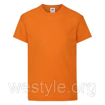 Футболка хлопковая легкая детская - 61019-44 оранжевая