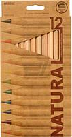 Олівці кольорові Marco 12 кольорів 6400-12СВ @Natural
