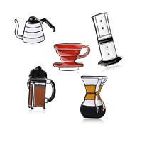 Набор значков пинов Утро 5 шт кофе чашка чайник брошь