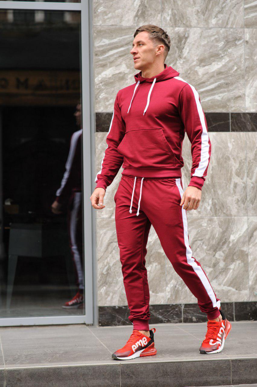 Стильный молодёжный спортивный костюм с лампасами - цвета комбинаций на выбор  S,M,L,XL
