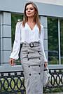 Белая блузка шёлковая женская повседневная молодёжная нарядная офисная, фото 2