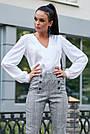 Белая блузка шёлковая женская повседневная молодёжная нарядная офисная, фото 3