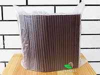 Трубочка фреш коктейльная коричневая, d8, 21 см, 500 шт