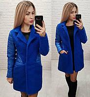 ЖІноче осіннє  пальто з вставками ,2 кольори. Р-ри 42-48