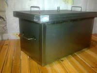 Коптильня из черного металла с водяным затвором
