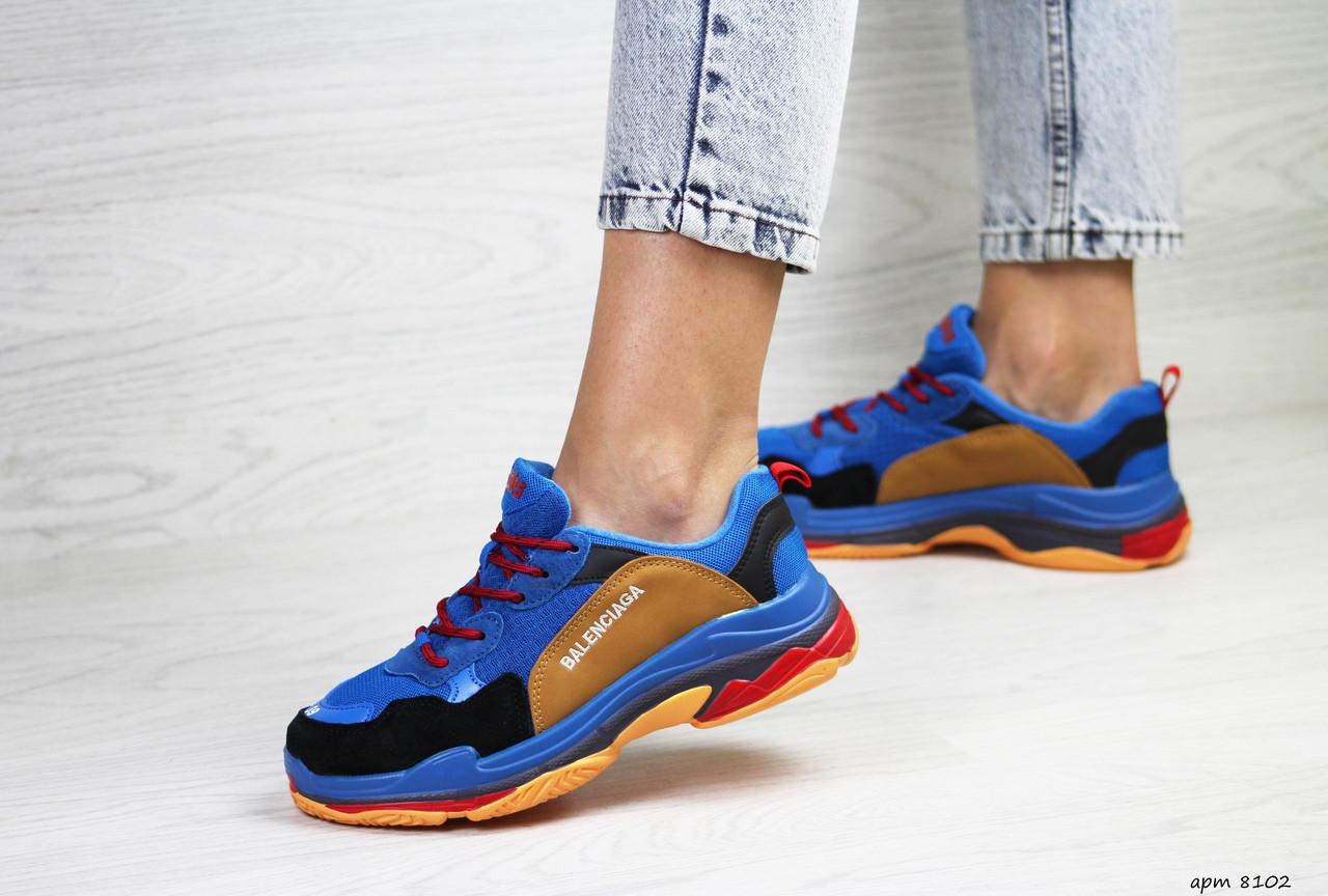 Женские кроссовки Balenciaga (синие)